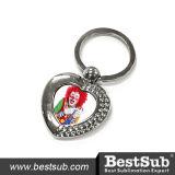 Sublimation Personalized Heart Shaped Zinc Alloy Key Ring (YA55)