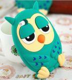Fashion 3D Cartoon Owls Shape Minion Silicone Phone Case
