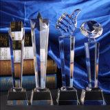 Hot Sale Crystal Glass Trophy for Souvenir