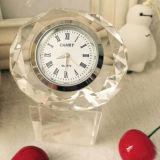 Crystal Diamond Clock with Crystal Base