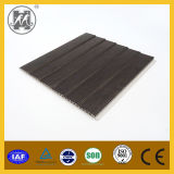 25cm Wide India Laminated Wave Panel Wood Grain PVC Ceiling Design
