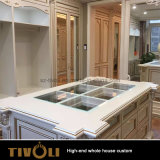 Modern Wholesale White Wood Grain Villa Home Kitchen Furniture Whole House Solution Tivo-002VW