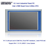 fanless design 12.1 inch 2* LAN embedded industrial touch panel PC