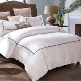 200thread Count Plain White Cotton Embroidery Bedsheets & Pillowcases