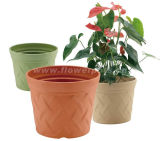 Plaid Plastic Garden Pot (KD7702-KD7704)