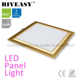Electroplated Aluminum 16W Gold LED Panel Light