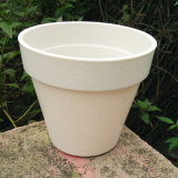 Eco-Friendly Bamboo Fiber Garden, Biodegradable Compostable Home Decoration Flower Pots (BC-FP1014)