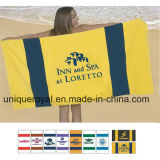 100% Cotton Terry Racing Stripe Beach Towel
