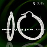 Factory Wholesale Silver Jewelry Hoop Earrings