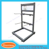 Small Powder Coating Hanging Metal Counter Socks Display Stands Frame with Hooks