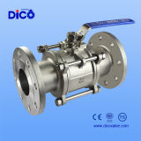 3PC Floating API Stainless Steel Flange Ball Valve with Handle