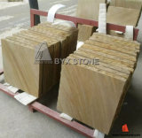 Tiger Yellow Golden Natural Sandstone for Wall Cladding Floor Tile