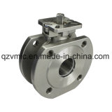 One Piece 1-PC Wafer Flanged Stainless Steel Ball Valve with Direct Mounting Pad Gq71f