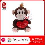 Plush Animal Stuffed Monkey Toy with Loving Heart