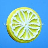 Custom Round Flower Lemon Design Fridge Magnet Sticker