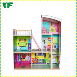 Wholesale Toys Cheap Baby DIY Doll House Wooden Miniature