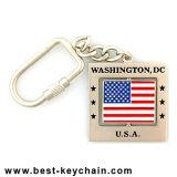 Souvenir Spinner Metal Washington DC Gift USA Flag Keychain (BK8261)