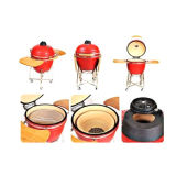 Ceramic Kamado/Barbecue Red BBQ Grill Hs23