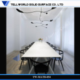Modern Corian Artificial Marble Long Size Office Meeting or Conference Table Set (TW-MATB-054)