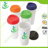 16 Oz PP Material Coffee Cup with Sleeve, BPA-Free
