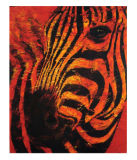 Modern Fine Art Zebra Oil Painting (AN-ZB5675)