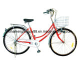Red Women City Bicycle with Rear Cp Carrier (SH-CB122)
