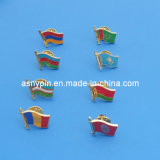 Metal Soft Enamel Country Flag Lapel Pin Badge