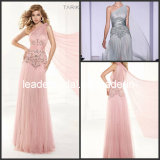 A-Line Prom Dress One Shoulder Pink Silver Beading Tulle Party Cocktail Evening Dresses T92384