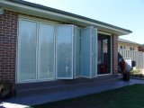 As2047 Australia Standard Aluminum Folding Door with Built-in Shutters