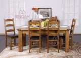Dining Table and Chairs Set/ Rustic Oak Wood Dining Furniture Set (RC ...