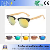 Metal Half-Frame Fashion Men and Women Bamboo Legs Sunglasses