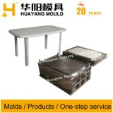 Plastic Rectangle Table with Foot Mould (HY021)