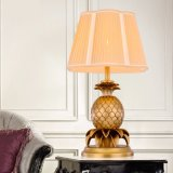 Modern Art Creative Personality Copper - Made Pineapple Table Lamp