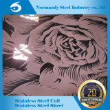 ASTM 304 8K Finish Etched Stainless Steel Plate for Decoration