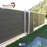 2017 New Design Waterproof Grey WPC Aluminum Fence Panels for Garden