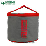 Outdoor Insulated Travel Zipper Round Tote Lunch Cooler Bag