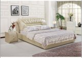 Durham Italy Leather Bed Frame in White L. P815