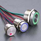 Popular! ! ! 19mm Aluminum DOT Illuminated Piezo Switch (PZ-A19)
