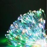 Solar Powered Warm White 12m 120LED Copper Wire LED String Fairy Light Lamp