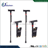 2018 Latest and Best Economical and Practical Walking Stick with LED Lamp Torch and Is Folding and Convenient to Carry for Old People