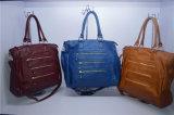 Best Selling Washed PU Women Tote Shoulder Shopper Handbag
