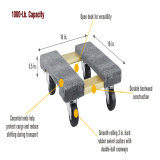 Moving Dolly 18X30 and 18X12 Flat Rolling Dolly - Holds up to 1000lbs - (Mini and Standard Size 2 Pack)