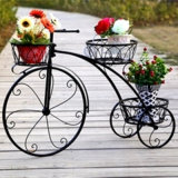 2017 New Indoor and Outdoor Bicycle Flower Plant Stand