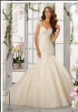 2016 Lace Beaded off-Shoulder Mermaid Bridal Wedding Dress Wd5407