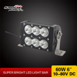 "6"" 60W Double Rows White & Amber LED Light Bar"