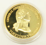 Rich Plating Precious Metal Souvenir Proof Coin with Capsule