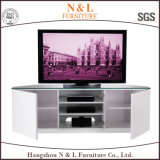 Economical Stylish Glass and Wood TV Stand