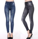 Latest Design Sexy Women Polyester Jeans Leggings (15007)