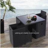 Save Space Outdoor Garden Furniture Pool Side Restaurant Furniture with Chair and Table by 4-10person (YT275)