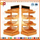 Fashionable Wooden Supermarket Vegetable and Fruit Display Rack Shelves Zhv9